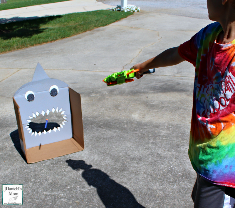 DIY Nerf Target for Shark Week Bullet in the Target