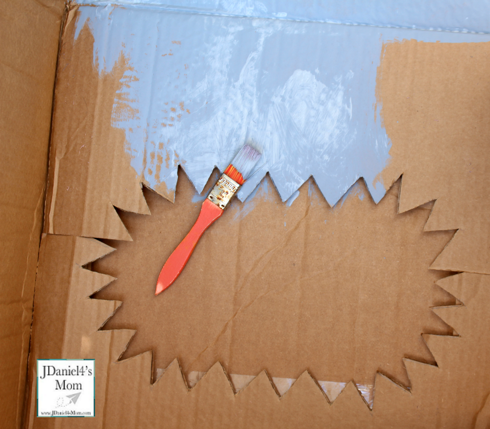 DIY Nerf Target for Shark Week Bullet in the Shark- Painting the Jaw