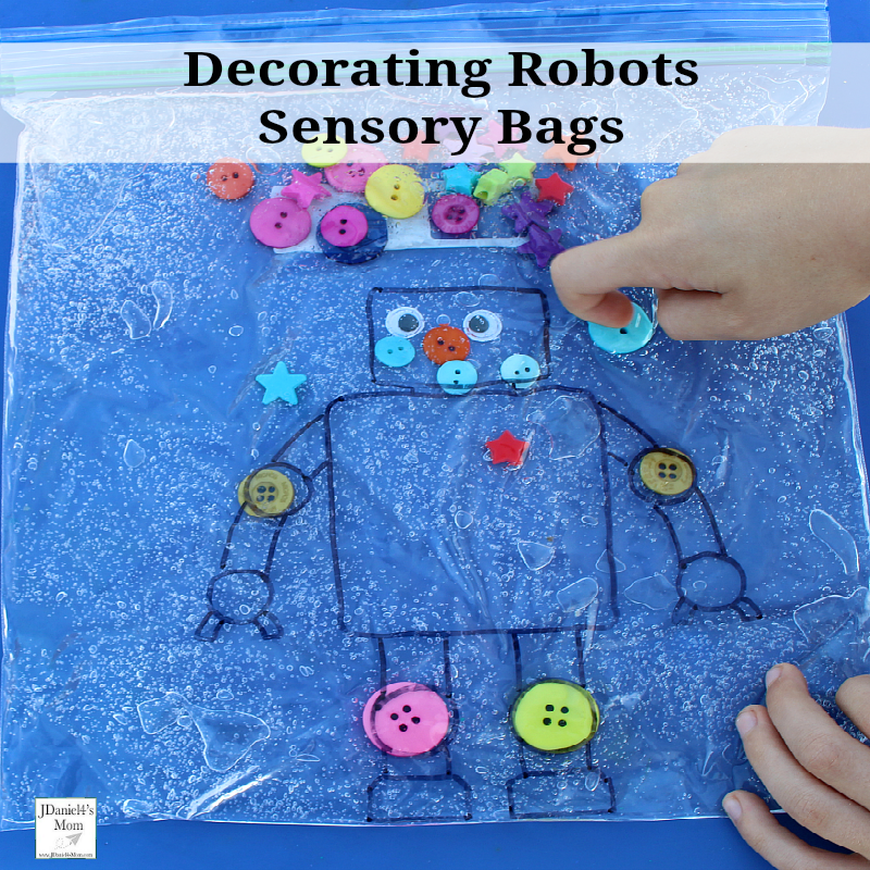 R Is For Robots Decorated In Sensory Bags