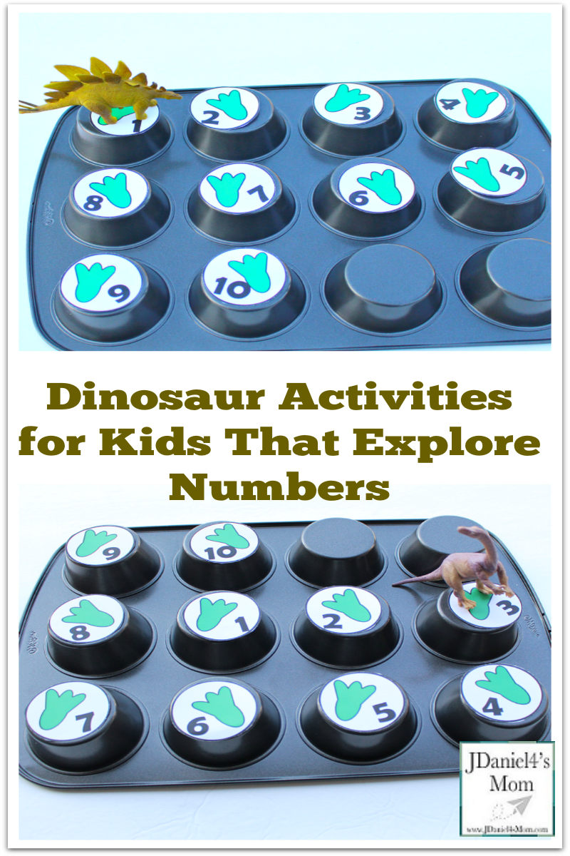 dinosaur activities for kids that explore numbers pinterest png