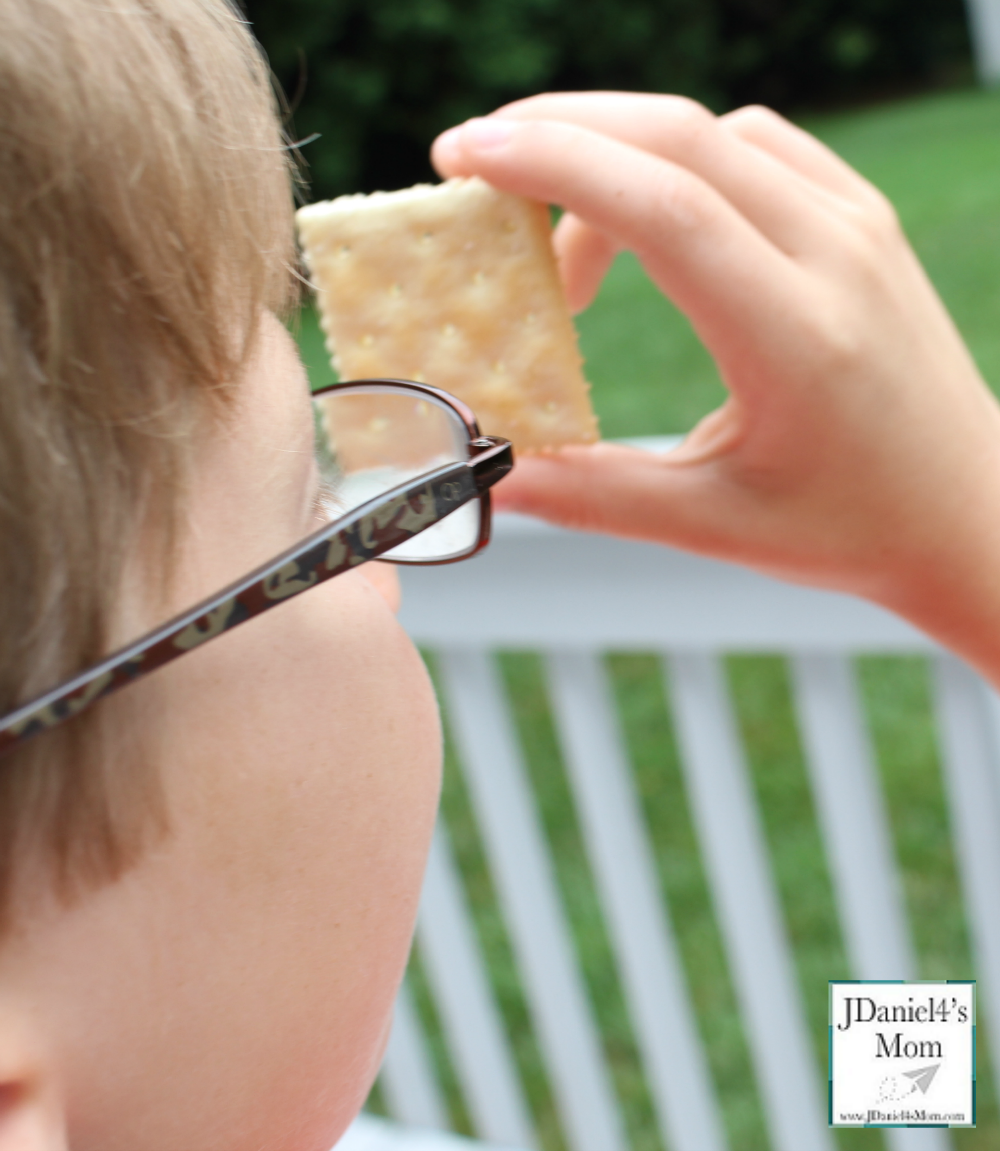 Do Crackers Make Good Pinhole Lens STEM Activity with Recording Sheet (Looking Through a Square Cracker)