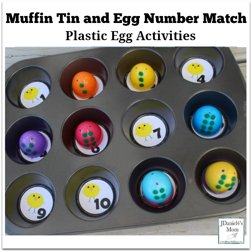 Easter Egg Game - Muffin Tin and Egg Number Match