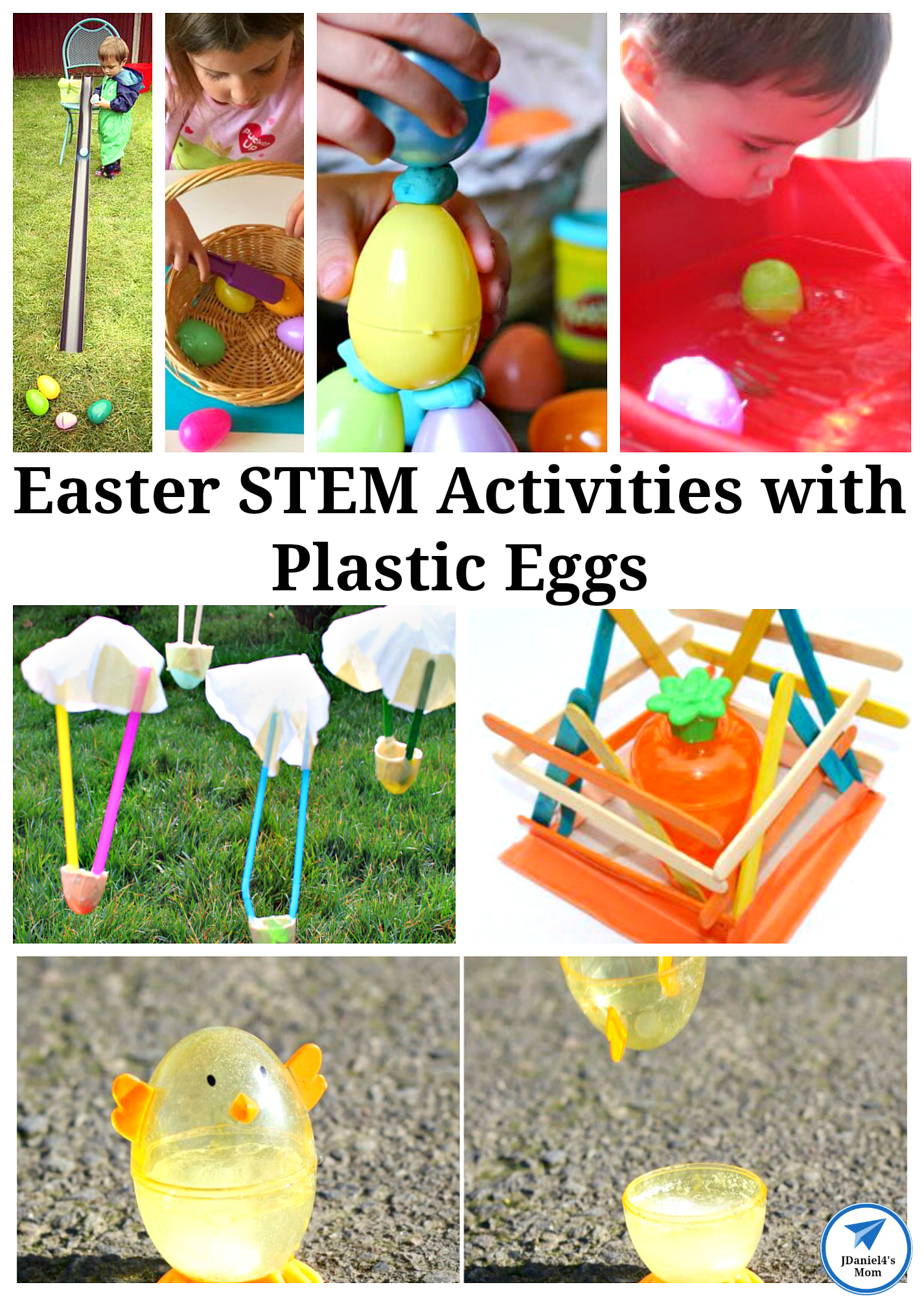 Your children will have fun exploring the Easter STEM activities with plastic eggs featured in this post.  #jdaniel4smom #plasticeggs #STEM #Easter
