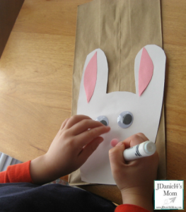 Easter Craft- Bunny Themed Treat Bag