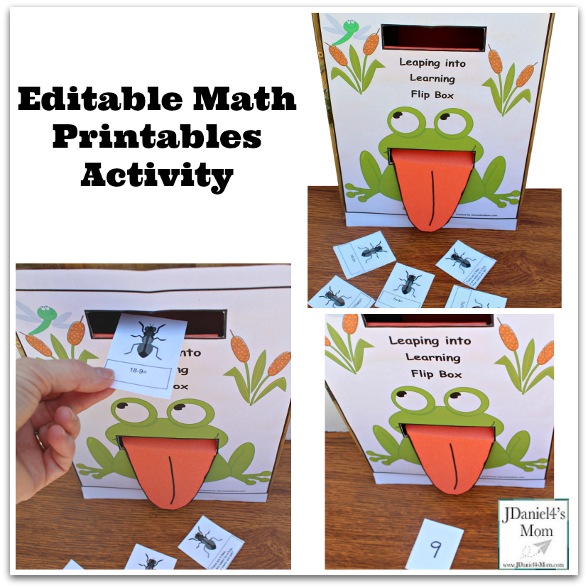 Editable Math Printables Activity