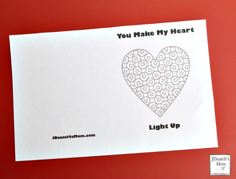 Electric Circuit Kids Valentine Card Not Colored