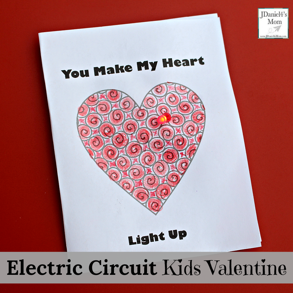 Electric Circuit Kids Valentine Card Activity with Free Printable Card
