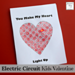 Electric Circuit Kids Valentine Card Activity with Free Printable Card Set