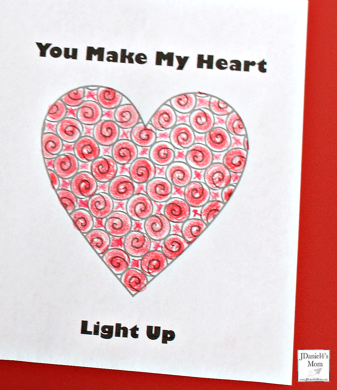 Electric Circuit Kids Valentine Upclose