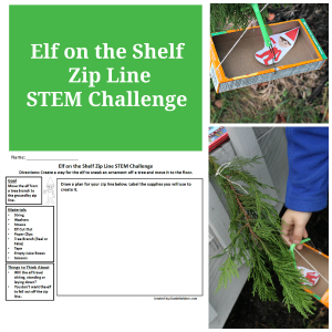 Creative Elf on the Shelf STEM Activity