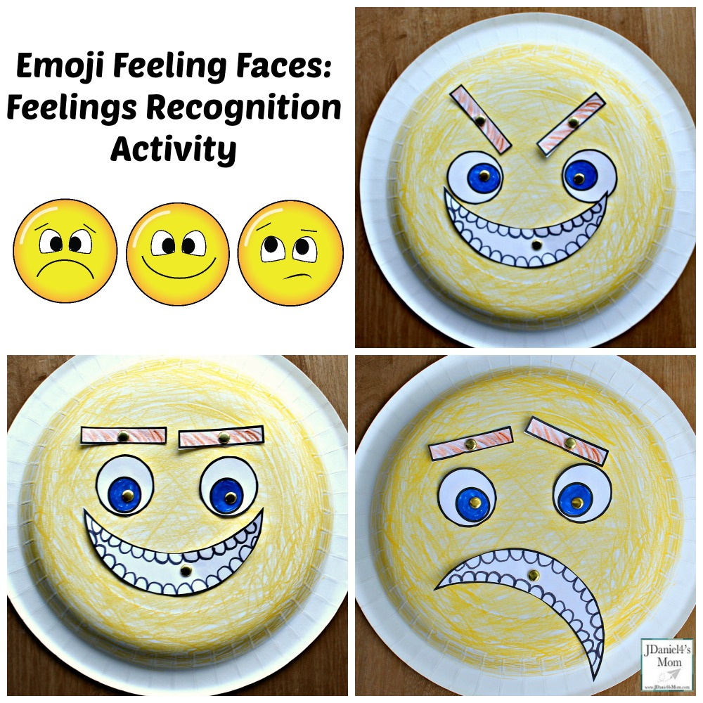 Emoji Feeling Faces Feeling Recognition Activity with Printable