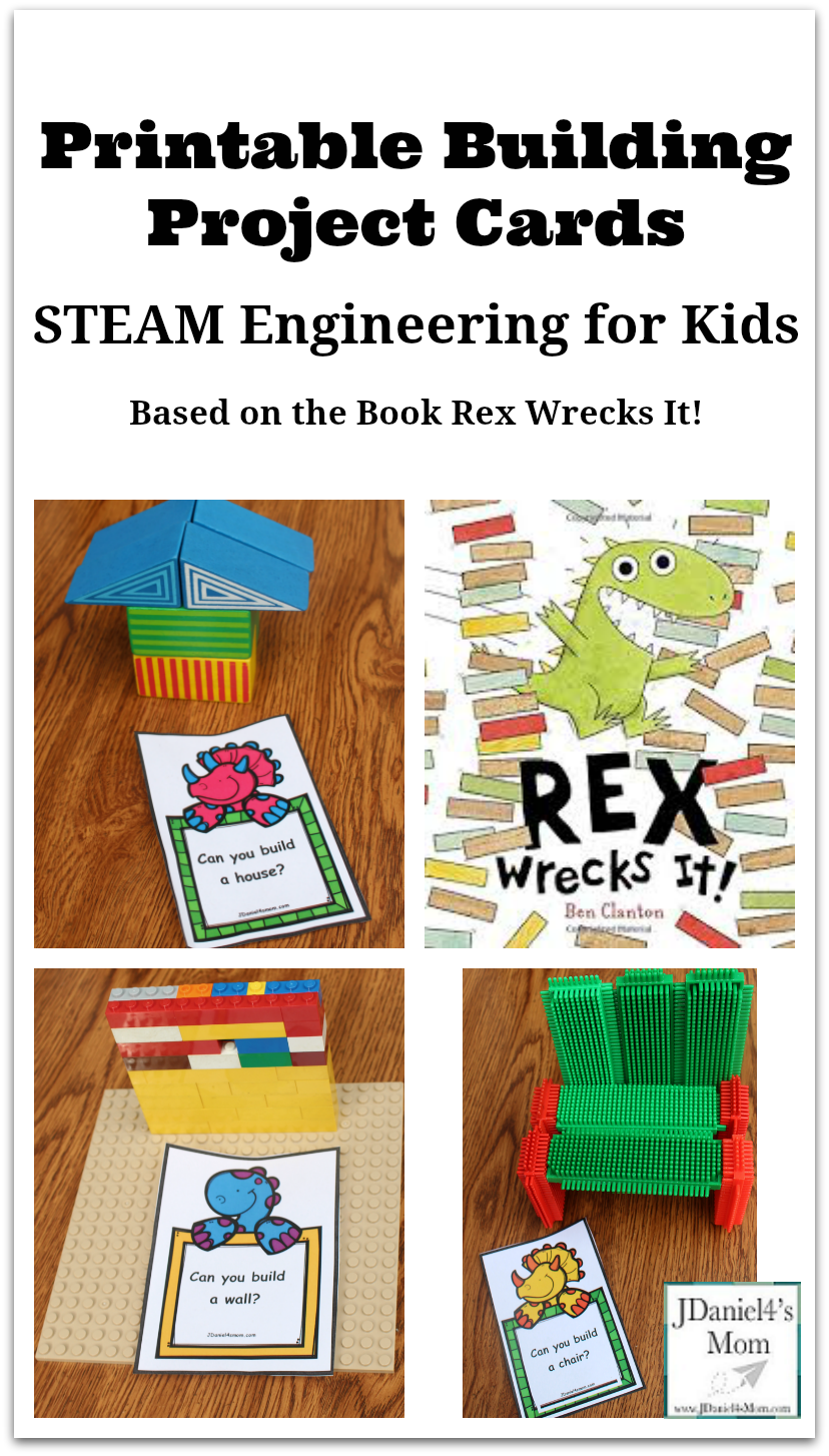 Engineering for Kids- Printable Building Project Cards : Kids will have fun using a variety of building materials to create their own versions of each of the building projects.