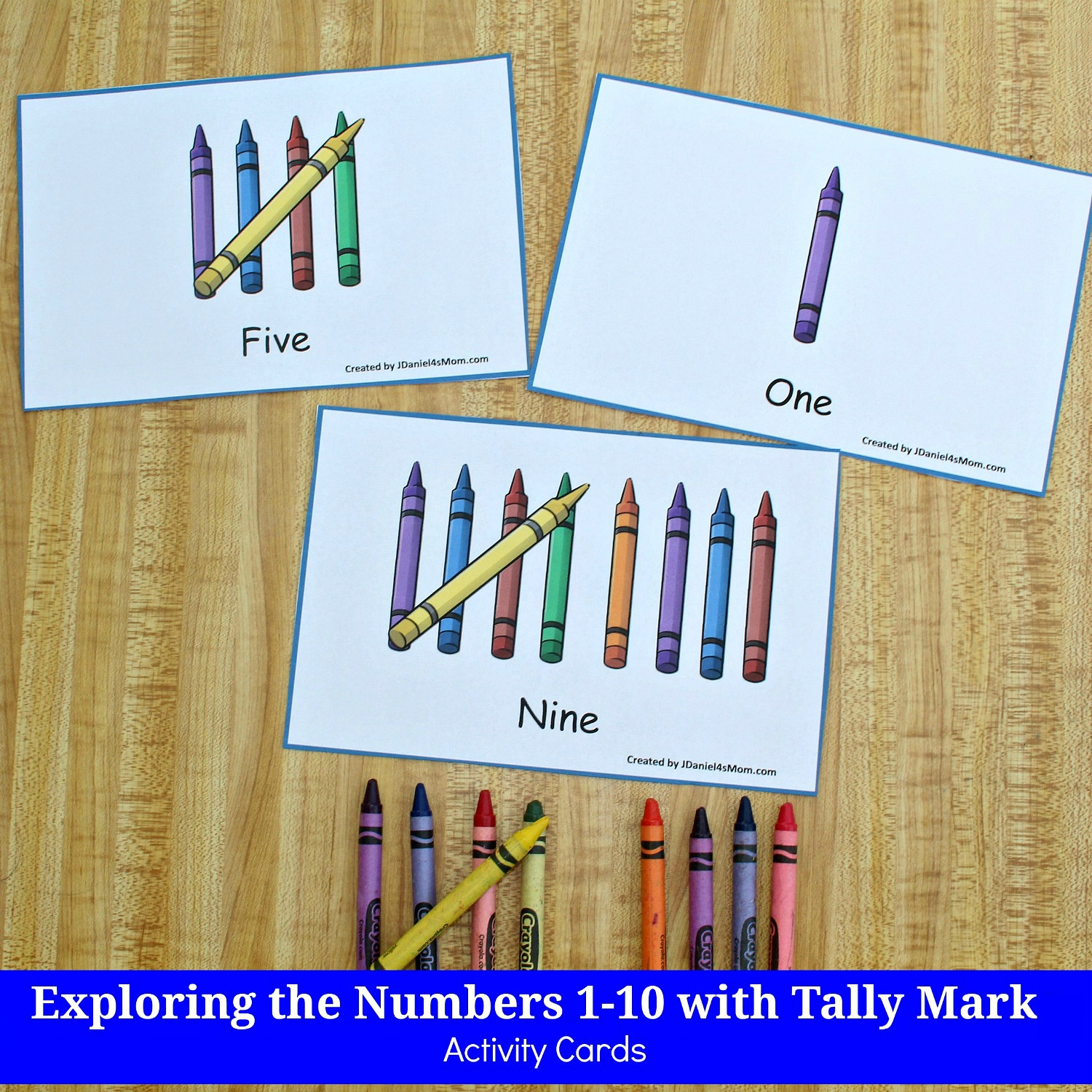 Exploring the Numbers 1-10 with Tally Mark STEM Activity Cards