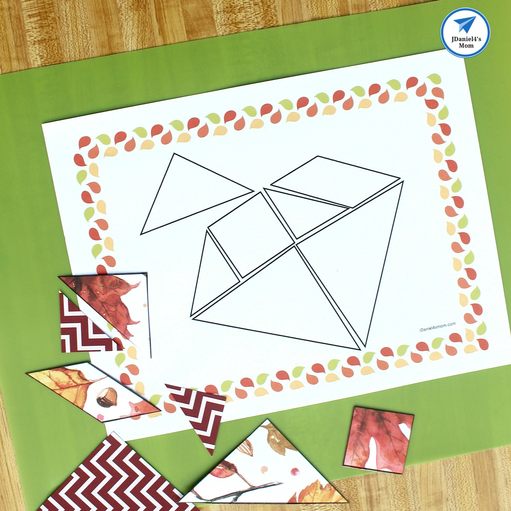 photograph relating to Printable Tangram identify Tumble-Themed Printable Tangram Puzzles - JDaniel4s Mother