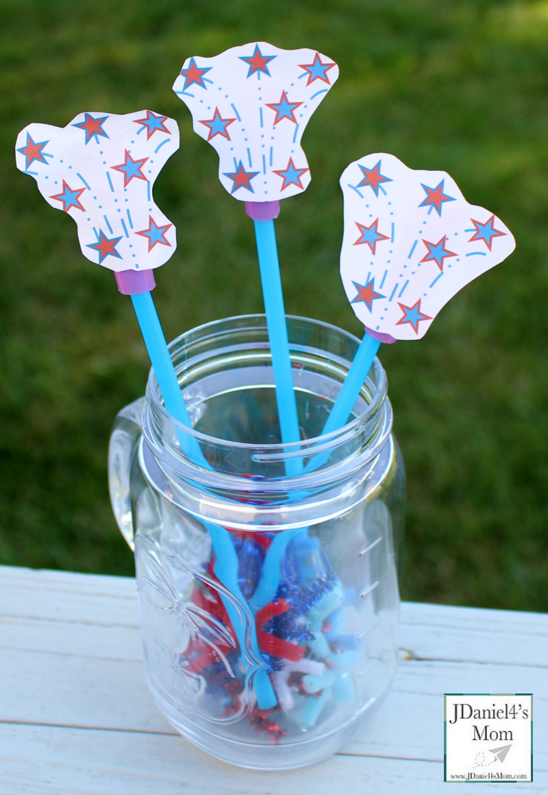 Fireworks Straw Rockets with Printable
