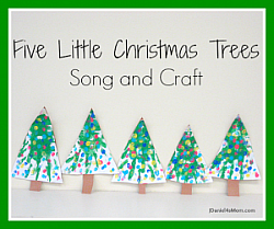 Five Little Christmas Trees Craft and Song