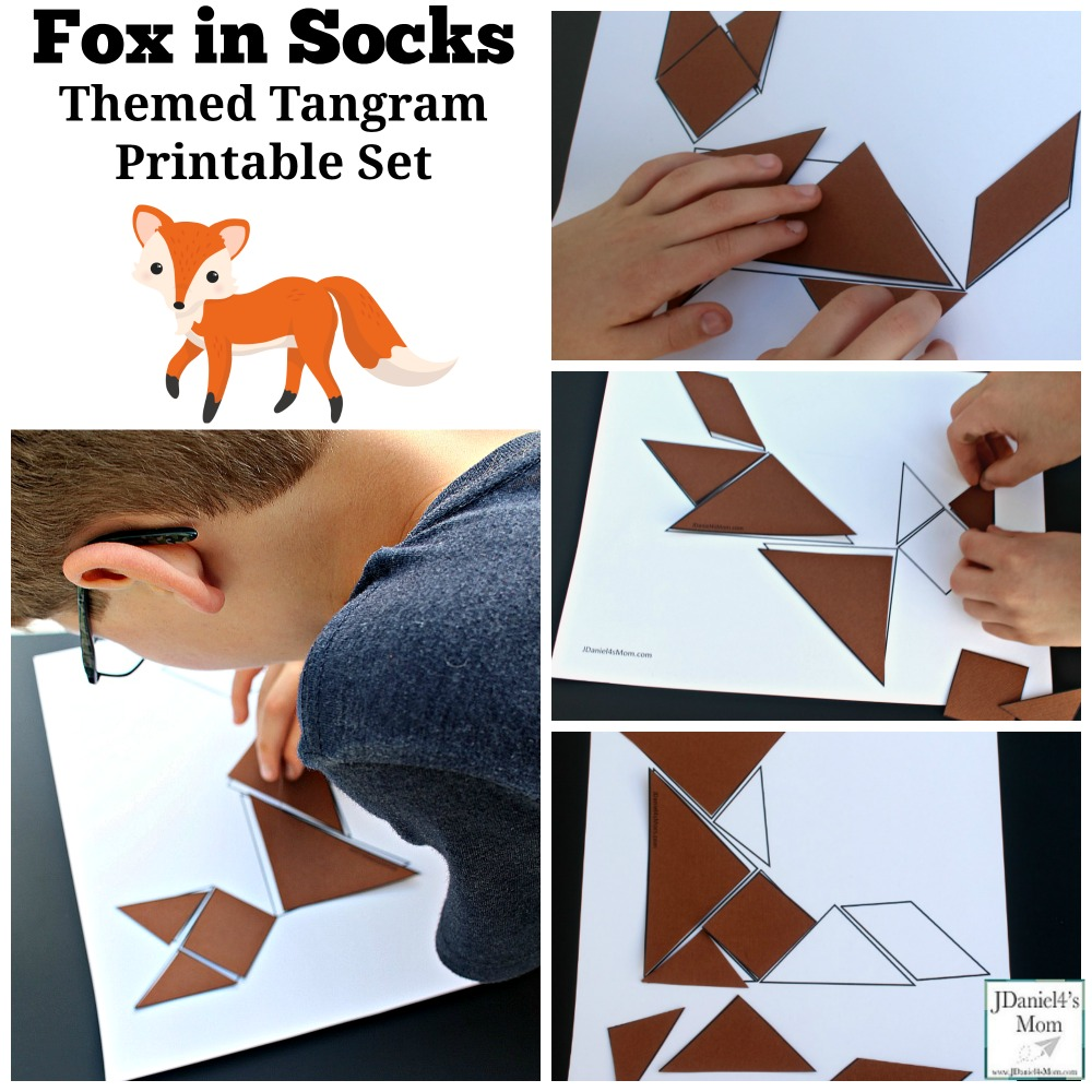 graphic regarding Fox in Socks Printable identify Fox inside of Socks Themed Tangram Printable Preset