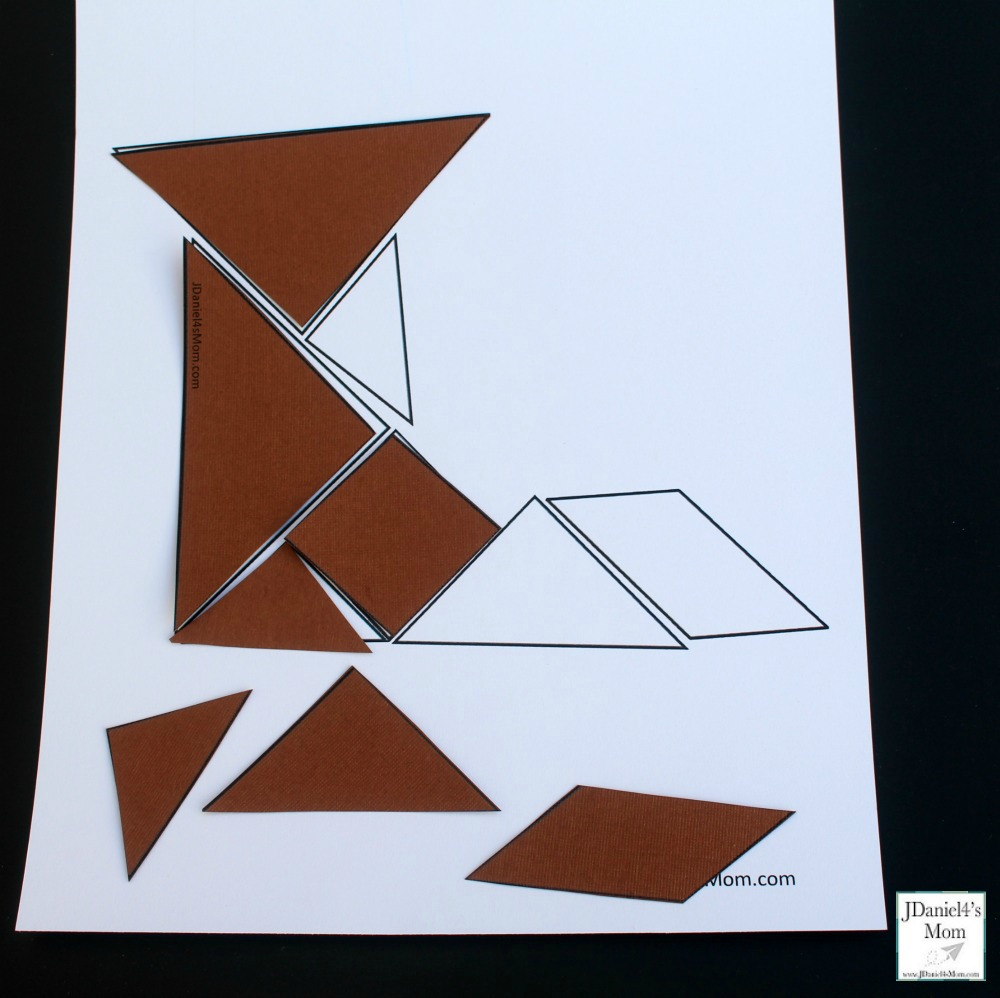 image relating to Fox in Socks Printable Template referred to as Fox within just Socks Themed Tangram Printable Mounted