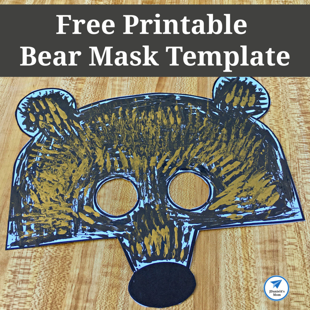 Free Printable Bear Mask Template Square