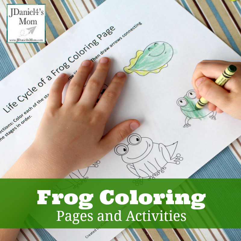 Frog Coloring Pages and Learning Activities- This set contains 7 frog themed free printables.