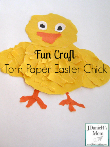 Fun Craft- Torn Paper Easter Chick