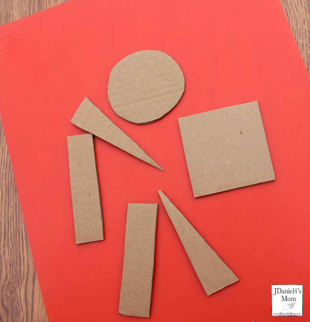 Gingerbread Man Craft - Cardboard Pieces