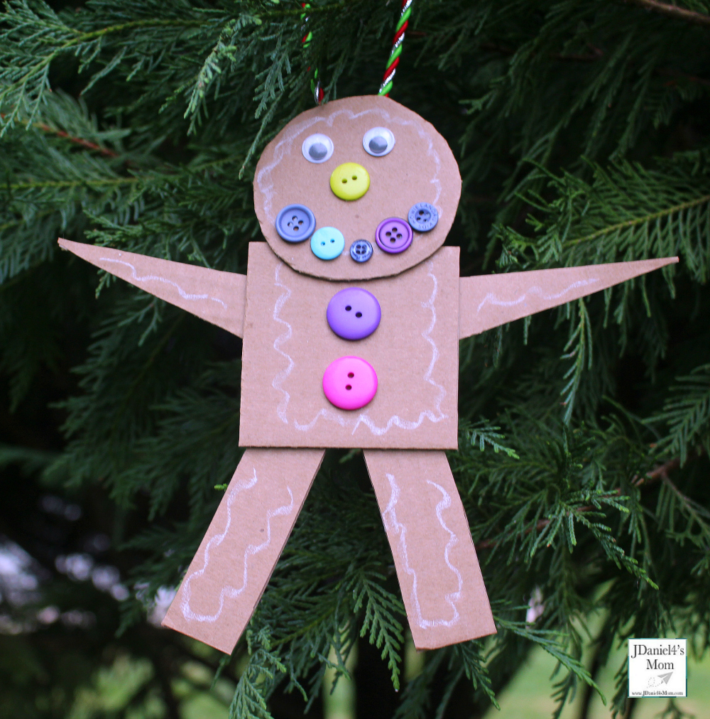 Gingerbread Man Craft That Explores Shapes Close Up