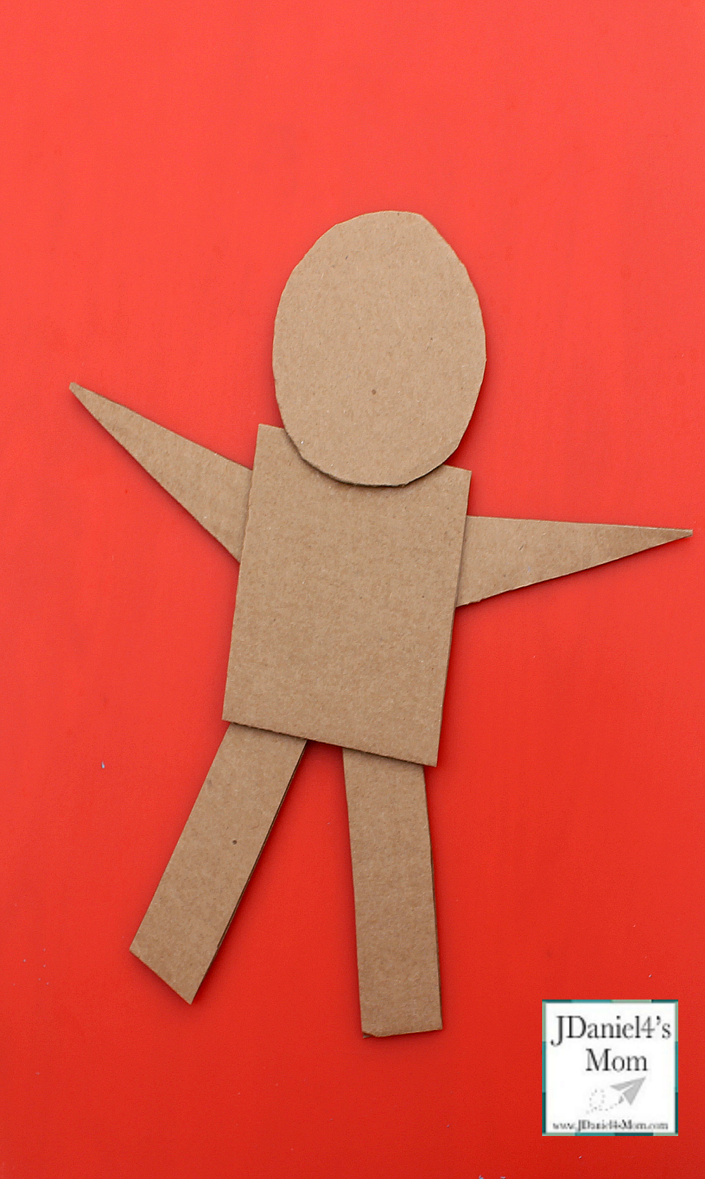Gingerbread Man Craft That Explores Shapes - Shapes Assembled