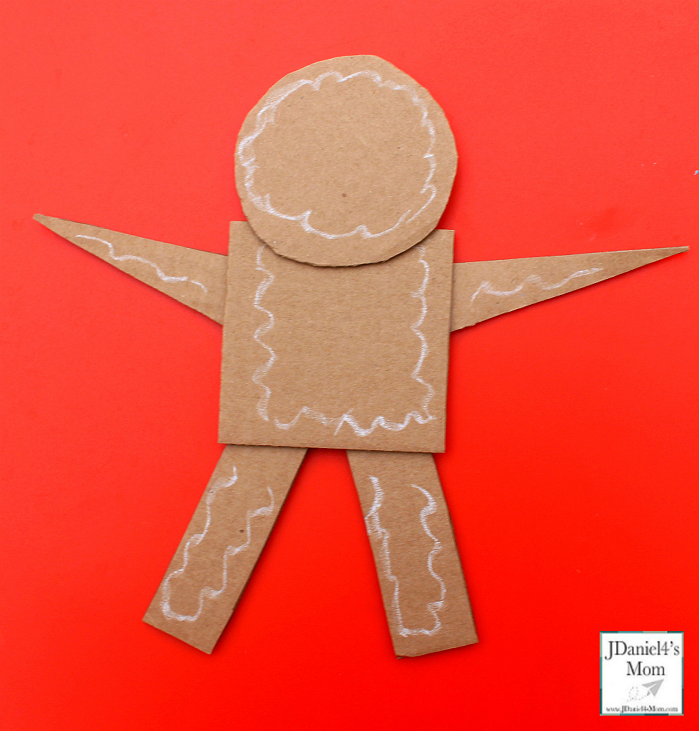Gingerbread Man Craft That Explores Shapes with Icing