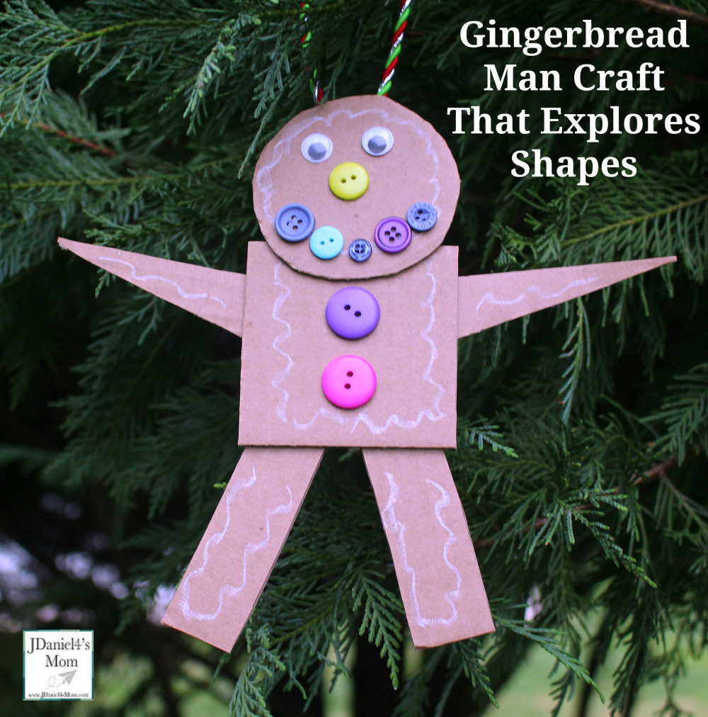 Gingerbread Man Craft That Explores Shapes