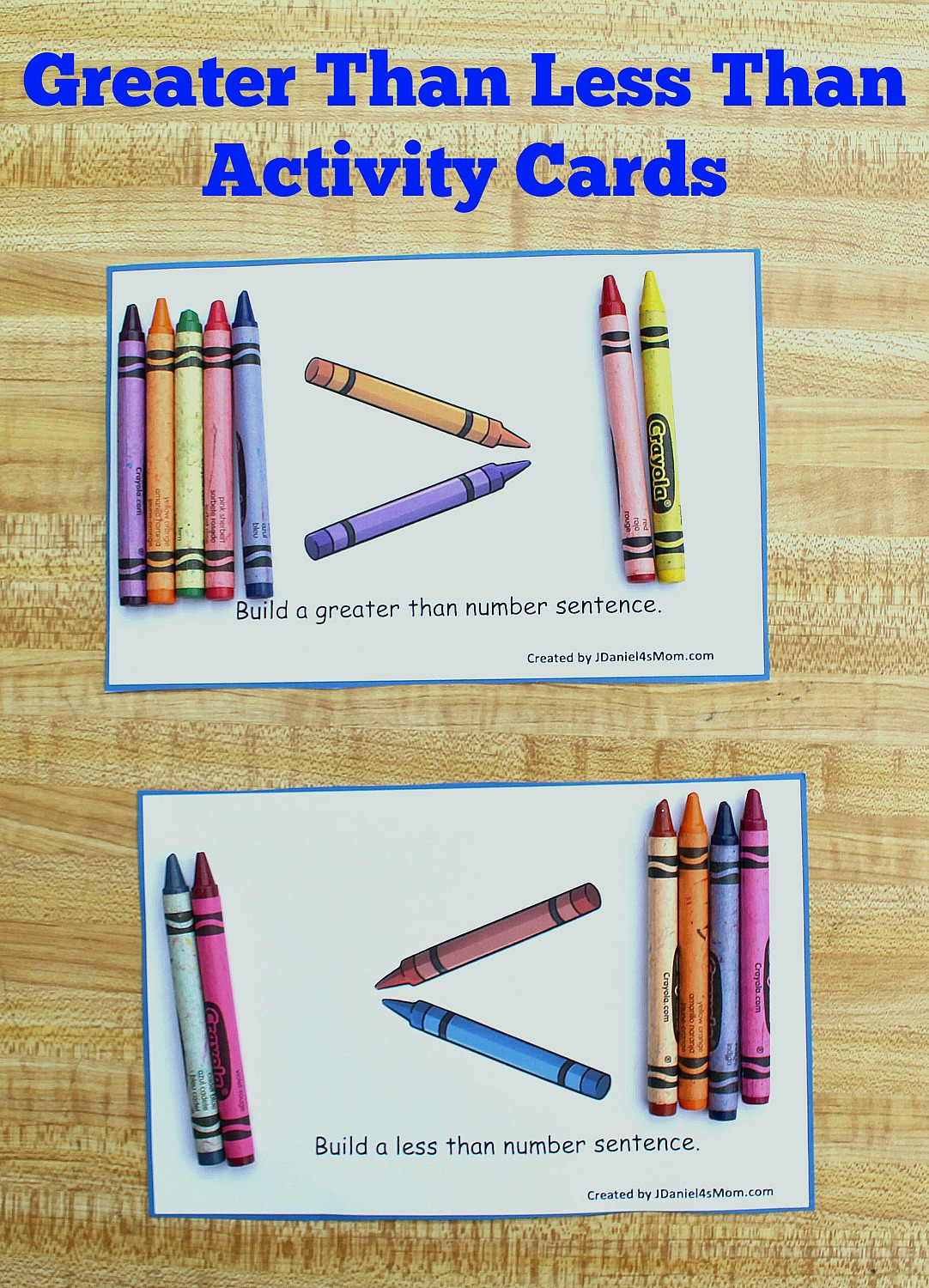 Your children at home and students at school will have fun exploring this free printable set of greater than less than STEM activity cards.