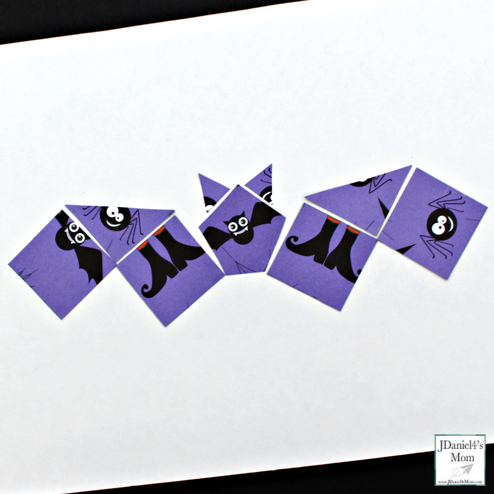 Halloween Bat Craft Purple Bat with Purple Halloween Themed Paper