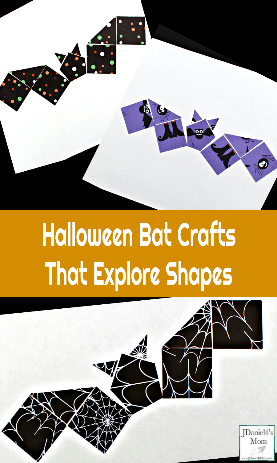 Halloween Bat Craft - Your children at home or students at school will have fun creating this Halloween bat craft. It is create with several different shapes. We read the book Stellaluna before creating this fun craft.