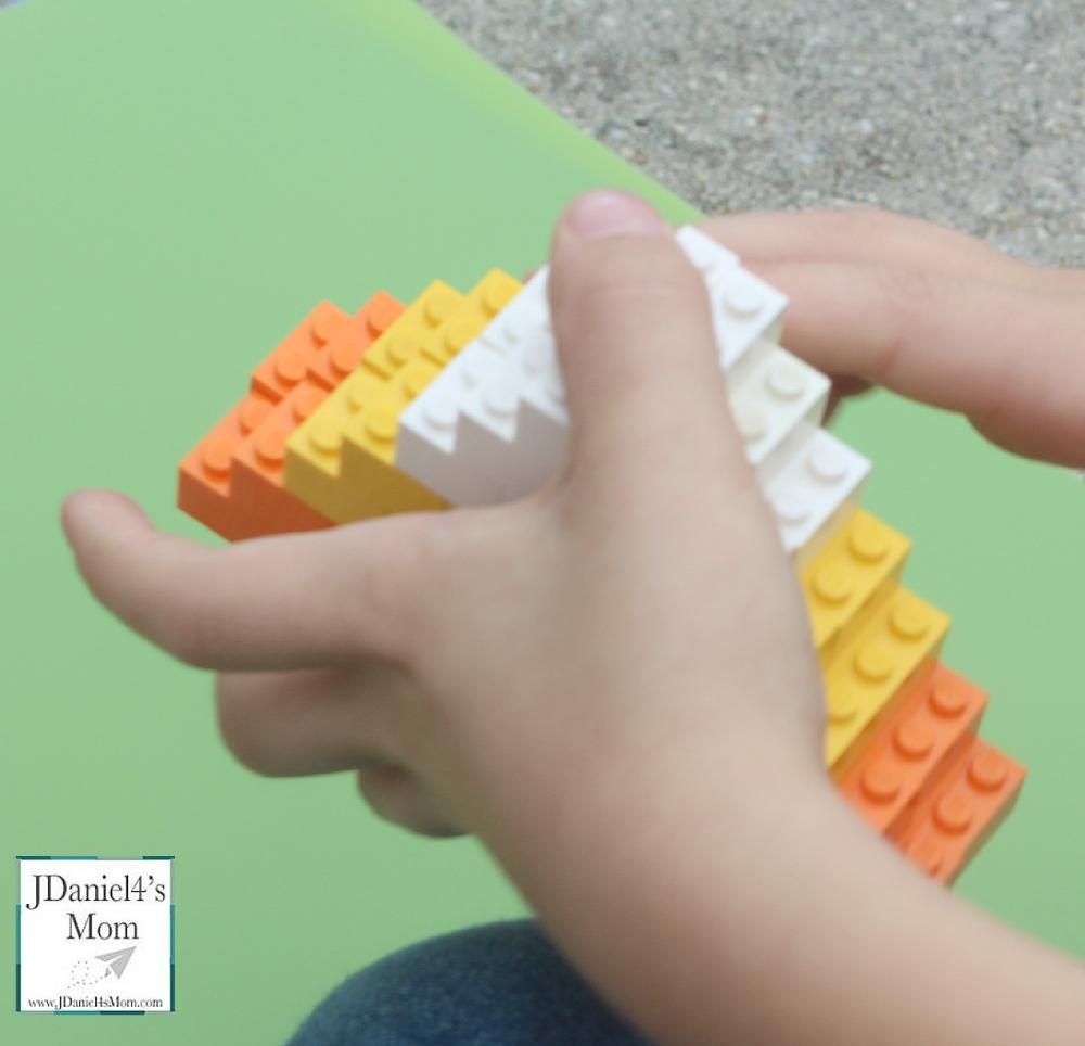 Halloween LEGO Candy Corn Challenge