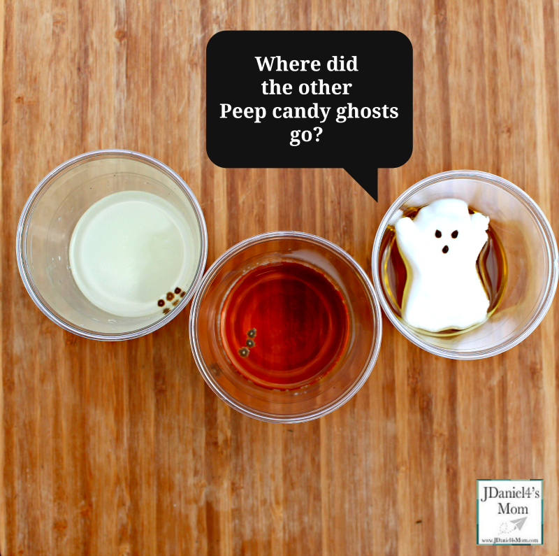 Halloween Peeps Candy Ghost Experiment Results