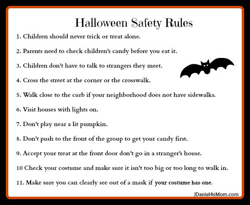 halloween safety rules