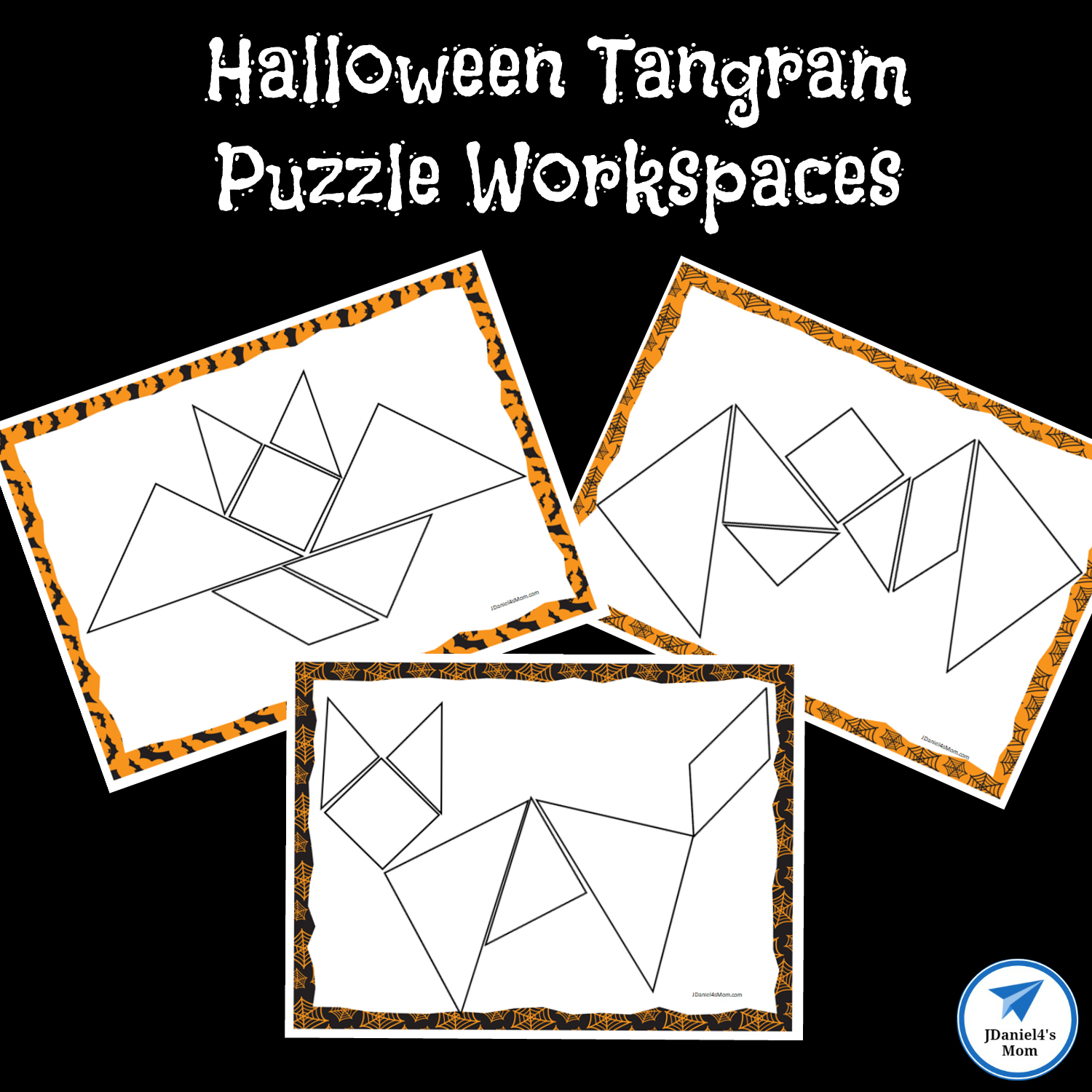 photograph relating to Printable Tangram named Halloween Themed Printable Tangram Puzzles - JDaniel4s Mother