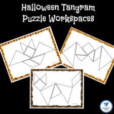 Halloween Themed Printable Tangram Puzzles