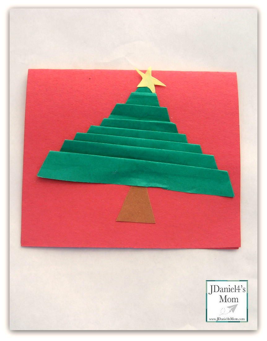 handmade christmas cards made with folded christmas trees - Folded Christmas Cards