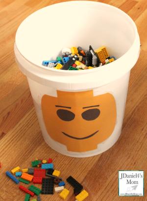 Homemade LEGO Storage Bucket
