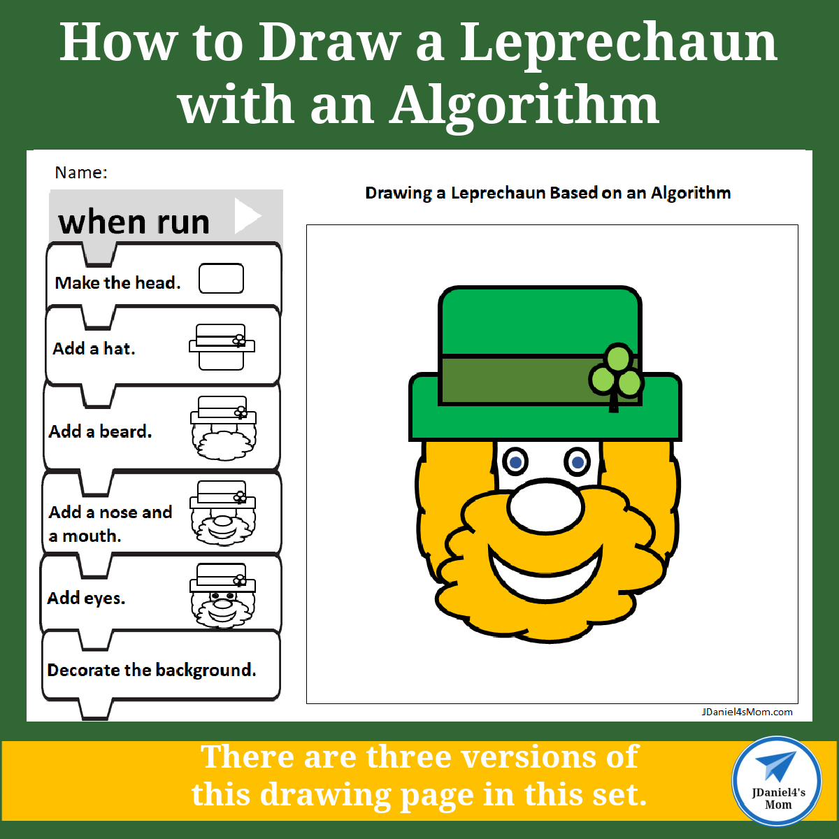 How to Draw a Leprechaun with an Algorithm Set