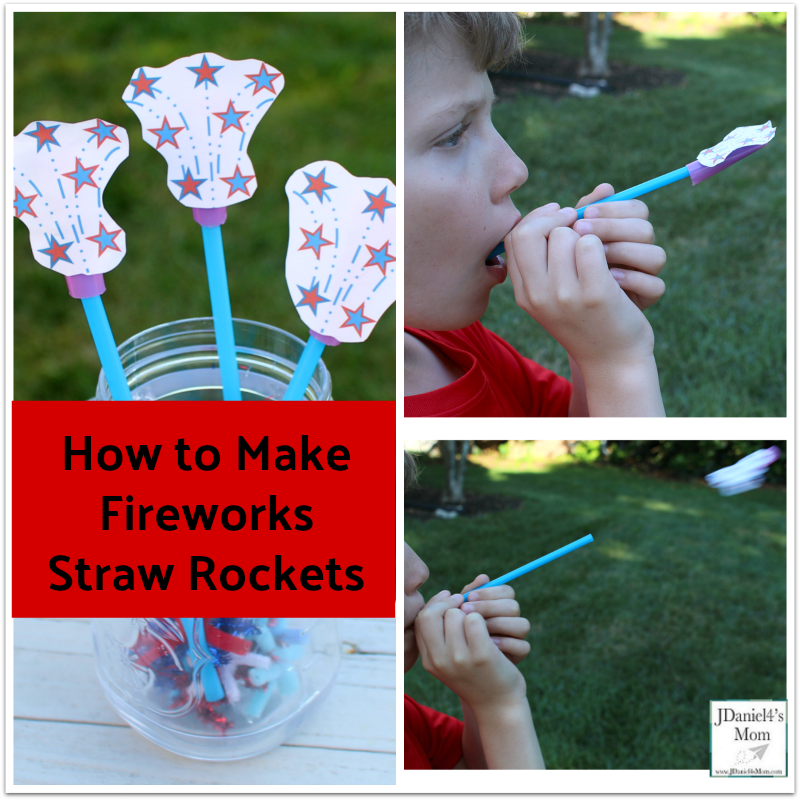 How to Make Fireworks Straw Rockets