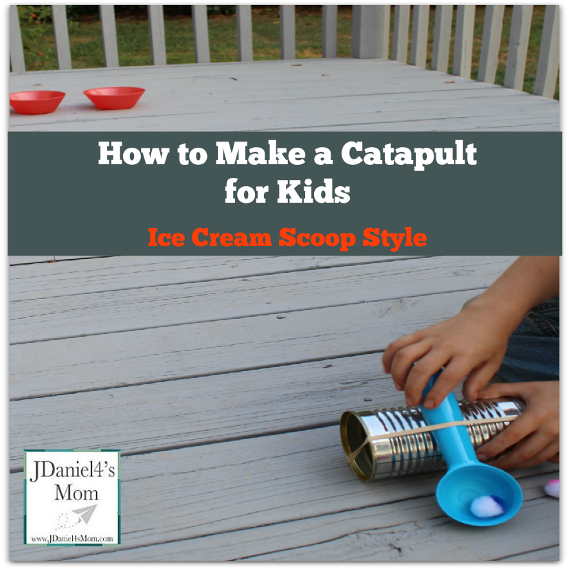 How to Make a Catapult for Kids Ice Cream Scoop Style
