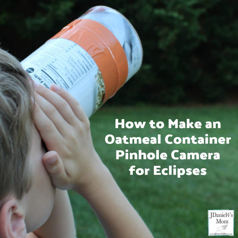 How an Oatmeal Container Pinhole Camera for Eclipses