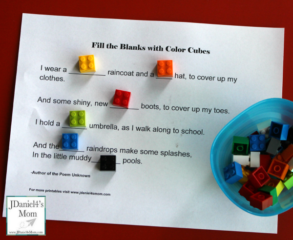 How to Use LEGO and Reading Worksheets To Explore Colors