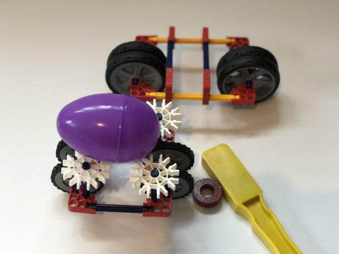 STEM Activities with Plastic Eggs - Magnetic Cars