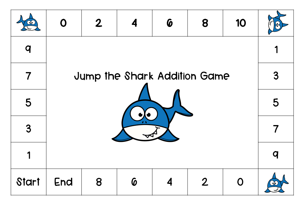 Jump the Shark Math Games Addition Games