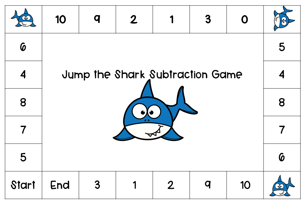 Jump the Shark Math Games Number Recognition