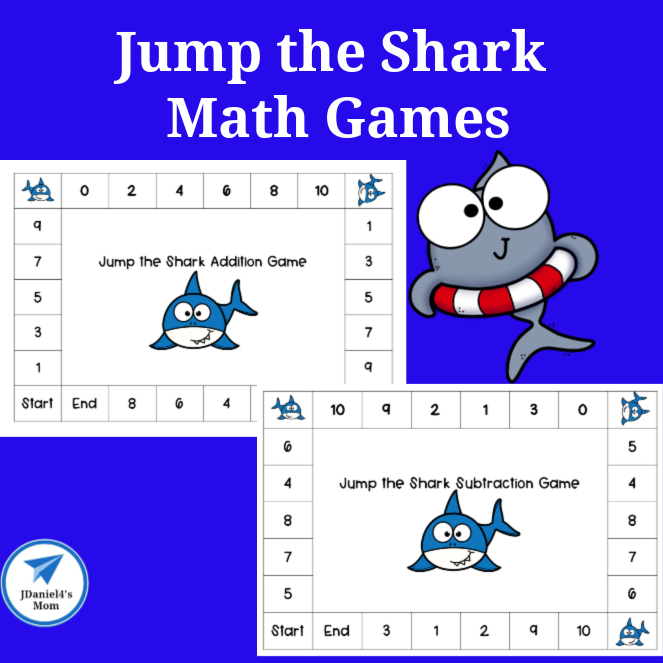 Jump the Shark Math Games Square