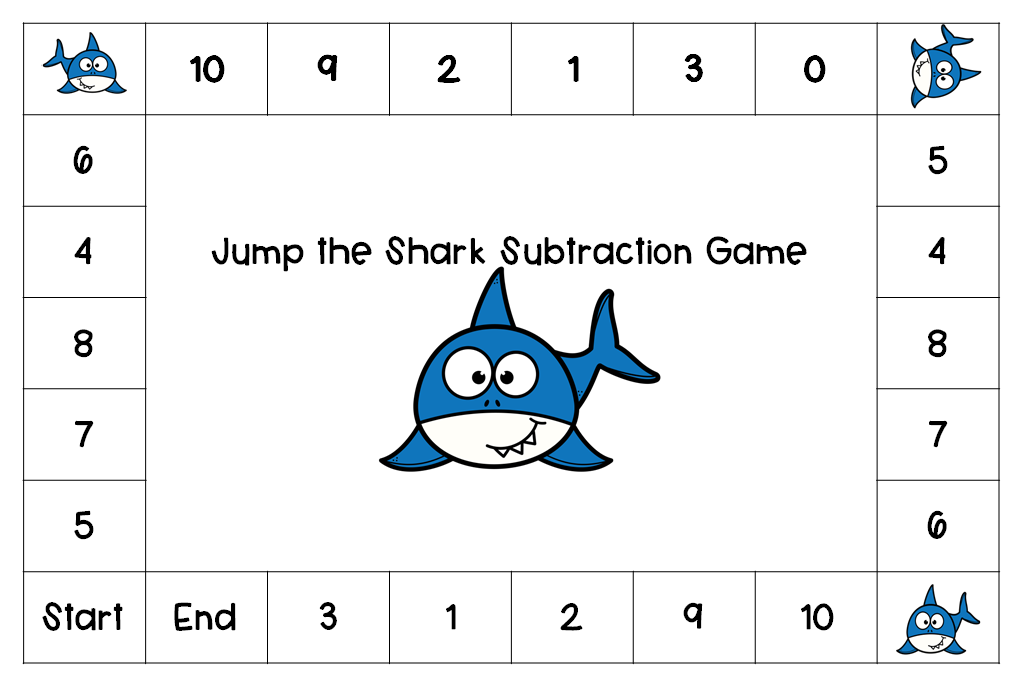 Jump the Shark Math Games Subtraction
